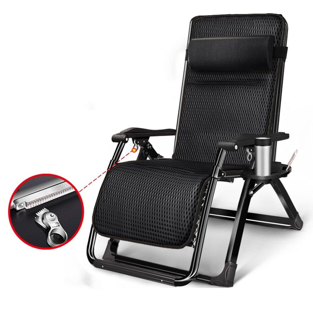 XXHDYR Multifunktionale Liegesessel Falten Mittagspause kühl schlafen Stuhl Einzel Erwachsene Tragbare Sommer Hause Siesta Bett Klappstuhl (Farbe : A-3 )