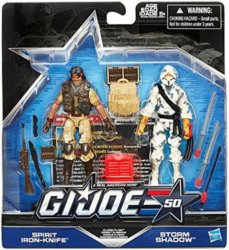 Shadow Iron (G.I. Joe 50th Anniversary Classic Clash Action Figure Set (Spirit Iron Knife vs. Storm Shadow) 3.75 Inches)
