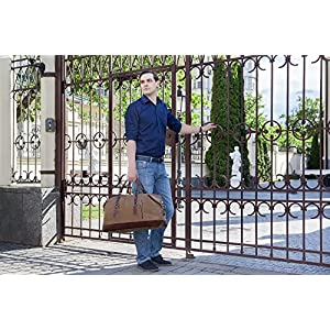 Travel Duffel Weekend Overnight Bag KB Partners – Durable Canvas & Leather Tote Bag for Men and Women– Premium Quality and Stylish Design Weekender