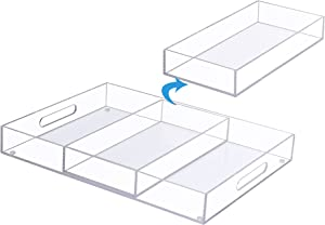 MTC Clear Acrylic Serving Trays – 11.8
