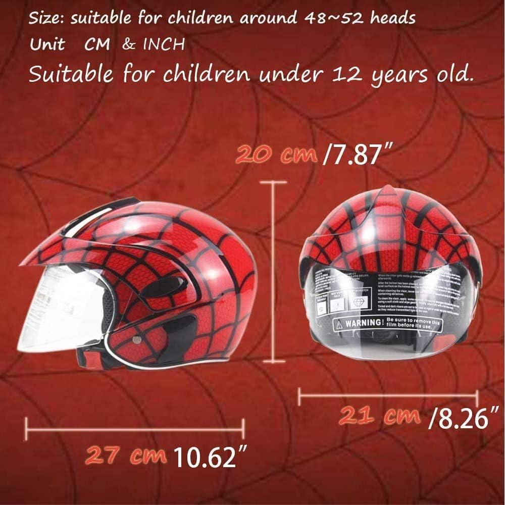 Zjra Rollerhelm Für Kinder Fahrradhelm Für Kinder Motorrad Childs Lightweight Cartoon Safety Cap Für 3 8 Jahre Kids 46 52cm Rot Küche Haushalt