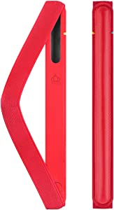 UTOPER Leather Case for Apple Pencil Holder with Charging Adapter Pocket Elastic Detachable Genuine Leather Cover for Apple Pencil 1 st & 2 nd Gen Stylus Pen Pouch (Red)