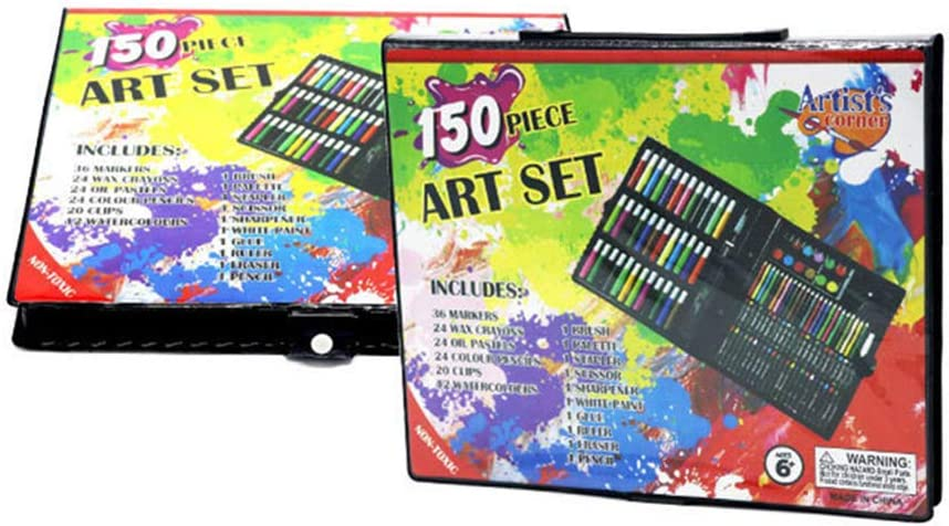 Regalo Perfetto per Regalo di Compleanno per Ragazze o Ragazzi KICCOLY 150 Pezzi Art Set per Bambini Custodia per Artista Junior