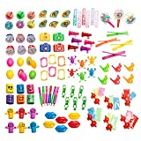 Party Favor Toy Assortment Pack of 101 Pc, Mid-sized and Small Toys, Stocking Stuffers, Pinata Filler, Prizes for Party Favor Bags, School Classrooms, a Treasure Chest Box Toys