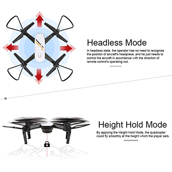 Jiayuane FPV RC Drone, Toma de una tecla Offwith Camera Video en Directo y GPS Return Home Quadcopter con Cool LED Lights: Amazon.es: Juguetes y juegos