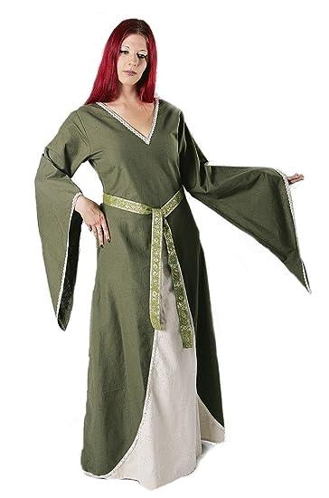 Mittelalter-Kleid Schnürung Farbe bordeaux//schwarz  Gr S//M L//XL