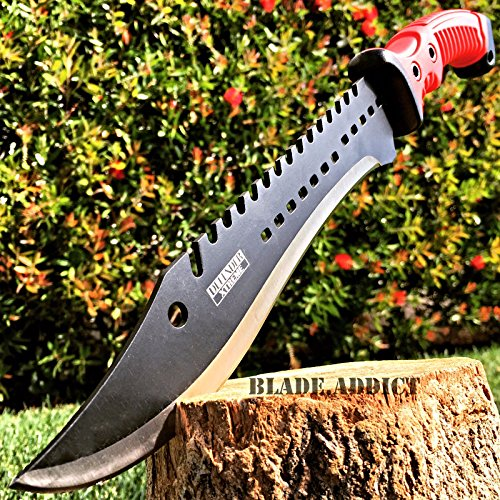 NEW! 16 TACTICAL HUNTING SURVIVAL RAMBO FIXED BLADE MACHETE KNIFE Camping Axe Sword