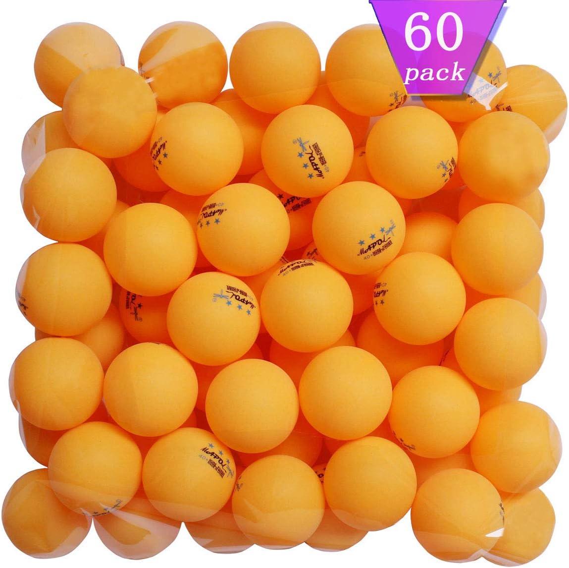 MAPOL 60 Counts 3-Star Orange Ping Pong Balls Advanced Practice Table Tennis Ball