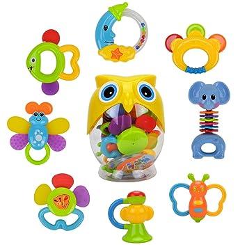 Recién nacido Rattle Teether bebé juguetes - Hanmun SL84822 Nueva ...