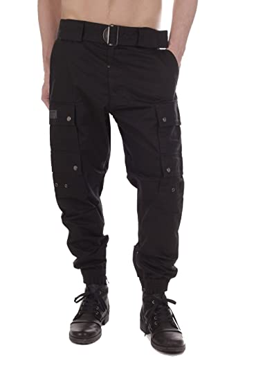 9f74f5ce Diesel P-SLY TROUSERS 900 Cargo Trousers Men Black: Amazon.co.uk: Clothing