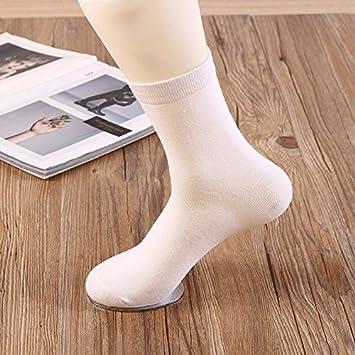 Liuxc Calcetines Calcetines de Trabajo para Hombres de algodón Calcetines de algodón completos Suaves y cómodos