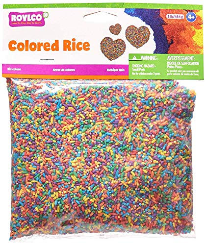 Roylco Colored Rice, 1 Lb. Box