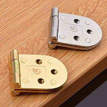 Dometool UK Lot de 2 charni/ères de porte pliables pour table et meubles Argent/é