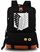 YOYOSHome Luminous Anime Attack on Titan Cosplay Bookbag College Bag Backpack School Bag