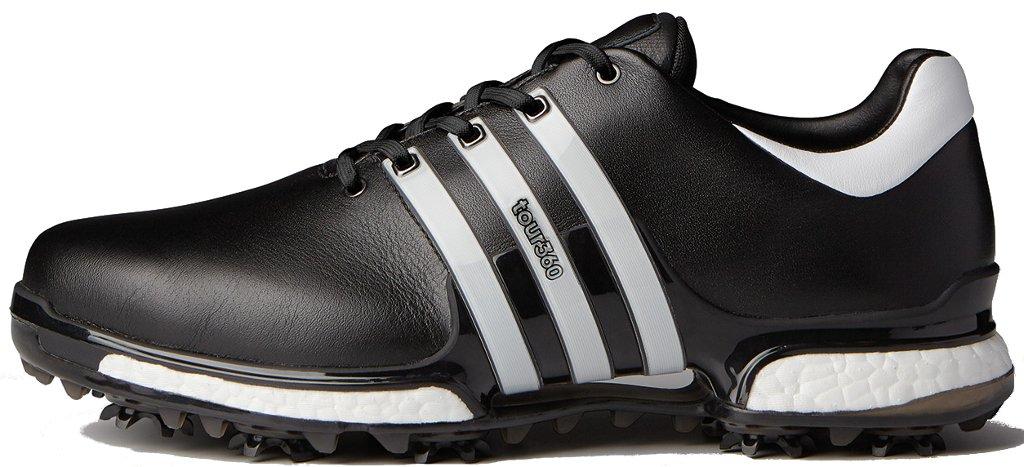 adidas Men's TOUR 360 2.0 Golf Shoe, Core Black/White, 7 M US