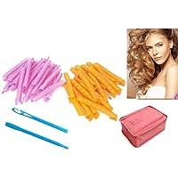 Lockenstäbe Curler Roller, 40 Stück Haar-Lockenwickler lange Twist Spiral Circle Hair Rollers Styling Tool … (55 CM)