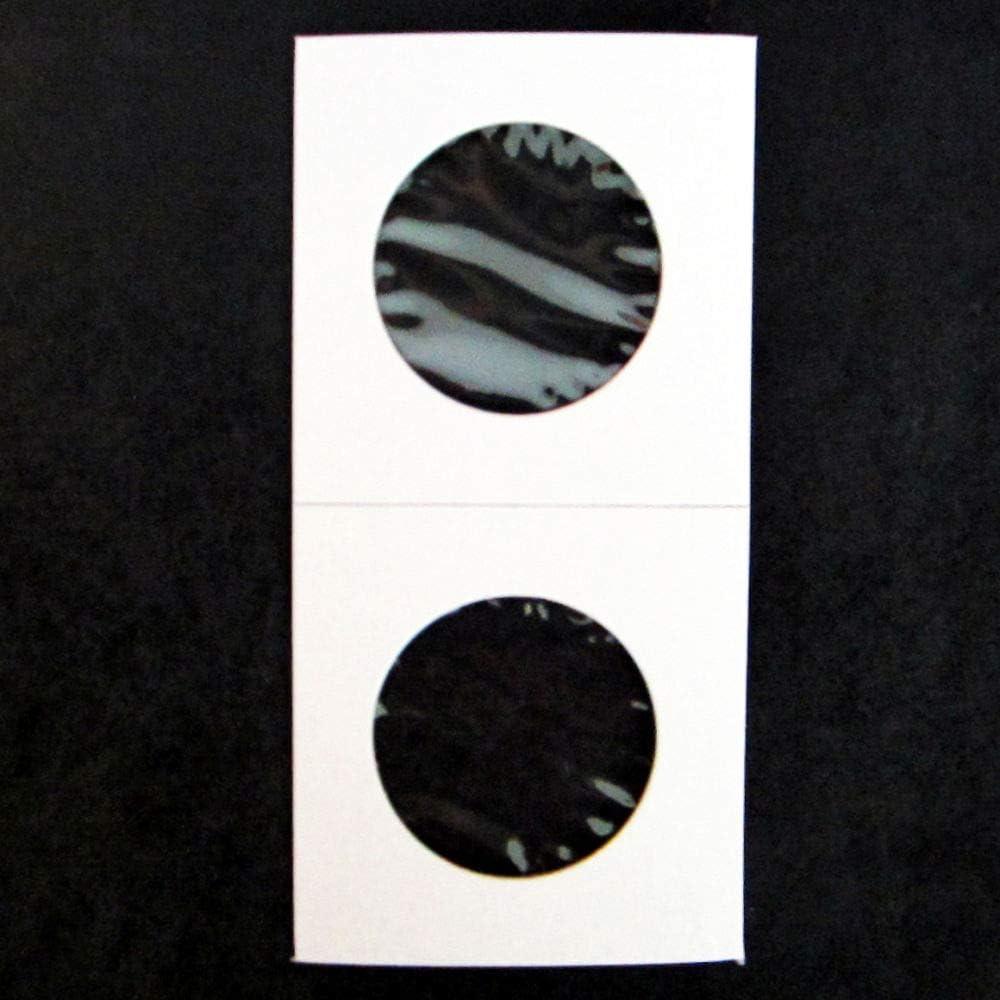 Quarter Size 2x2 Mylar Cardboard Coin Flips for Storage25 Cent Holders 50