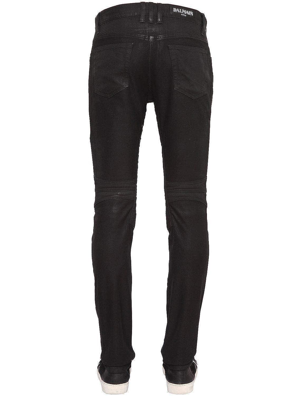 532321c0 Balmain Black Denim Coated Authentic Biker $1230 Jeans Size 30 at Amazon  Men's Clothing store: