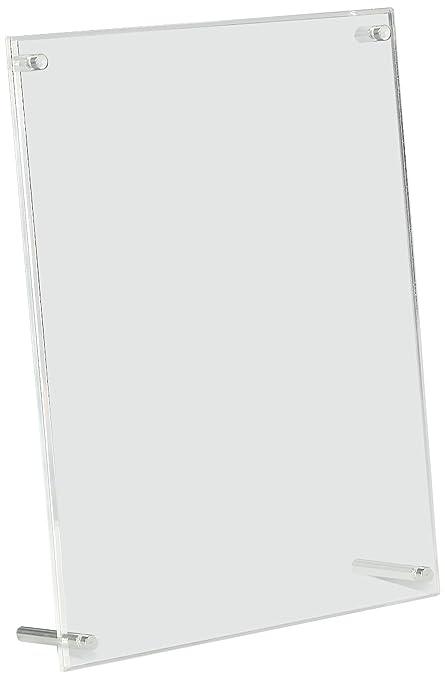 Amazon.com : Displays2go Acrylic Photo Frames for 8.5 x 11 Inches ...