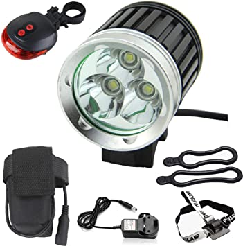 MLSice - Linterna LED para Faro Delantero, 3 x T6 LED para ...