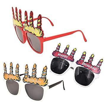 BESTOYARD 3 Piezas Gafas de Sol de la Vela del Feliz ...