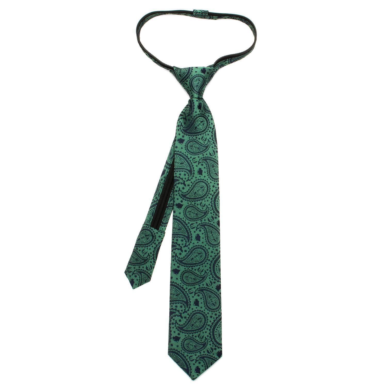 Officially Licensed Star Wars Yoda Paisley Boys Zipper Silk Tie