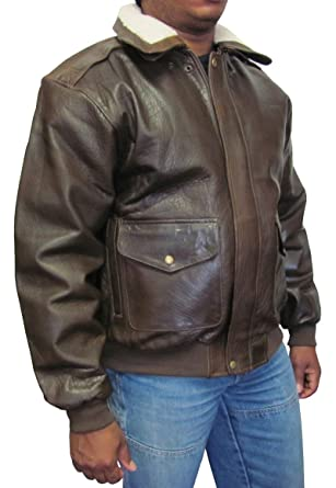 e6b0c5fa2558 Amerileather Men's Distressed Brown Leather Bomber Jacket Brown XL ...