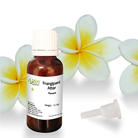 Allin Exporters Frangipani Attar - 100% Pure , Natural & Undiluted - 15 ML Perfume at amazon