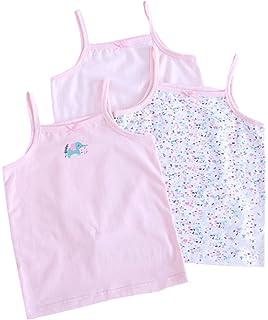 19de0e0778ee5 Bevalsaキャミソール キッズ 女の子 3枚 セット リボン 子供服 袖なし 可愛い インナー 子供 女児 肌着 ノースリー…
