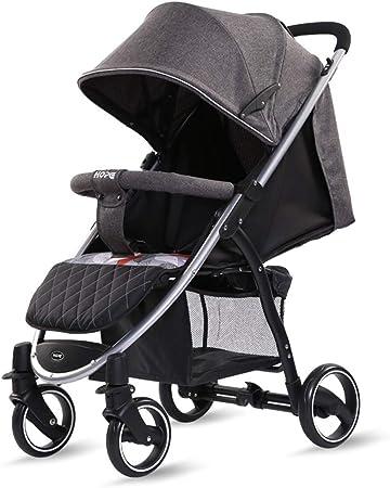 Opinión sobre Baby Stroller El Cochecito para niños Que Absorbe los Golpes, de 0 a 4 años Puede Usar un Cochecito de bebé, Puede Sentarse y acostarse, Soporte de Tabla Dura, Puede soportar 25 kg
