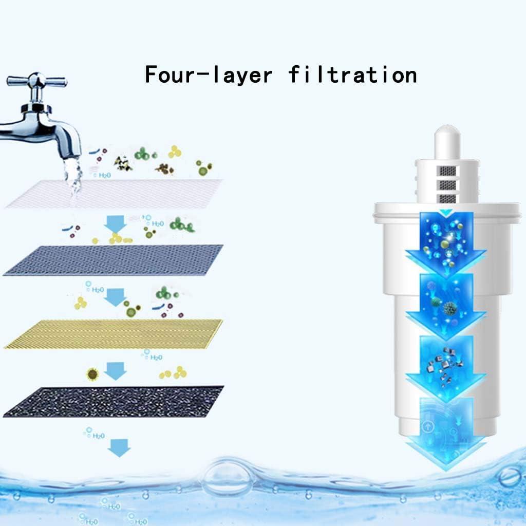 XYAA Filtro Alcalina Jarro De Agua, Purificador/Filtro/Dispensador 5 Etapa De Filtración 1,4 L Reducción De Mantenerse Saludable De Cal Elimina Plomo Fluoruro/Cloro Etc/BPA Libre (Azul): Amazon.es: Hogar