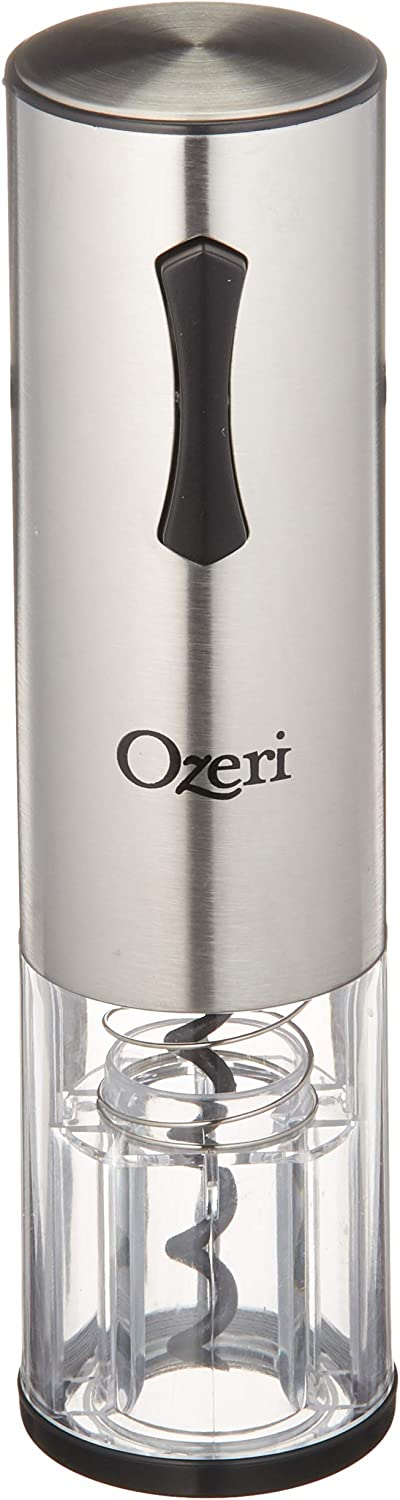 Ozeri OW12A Travel Series USB Rechargeable Electric Wine Bottle Opener, One Size, Stainless Steel