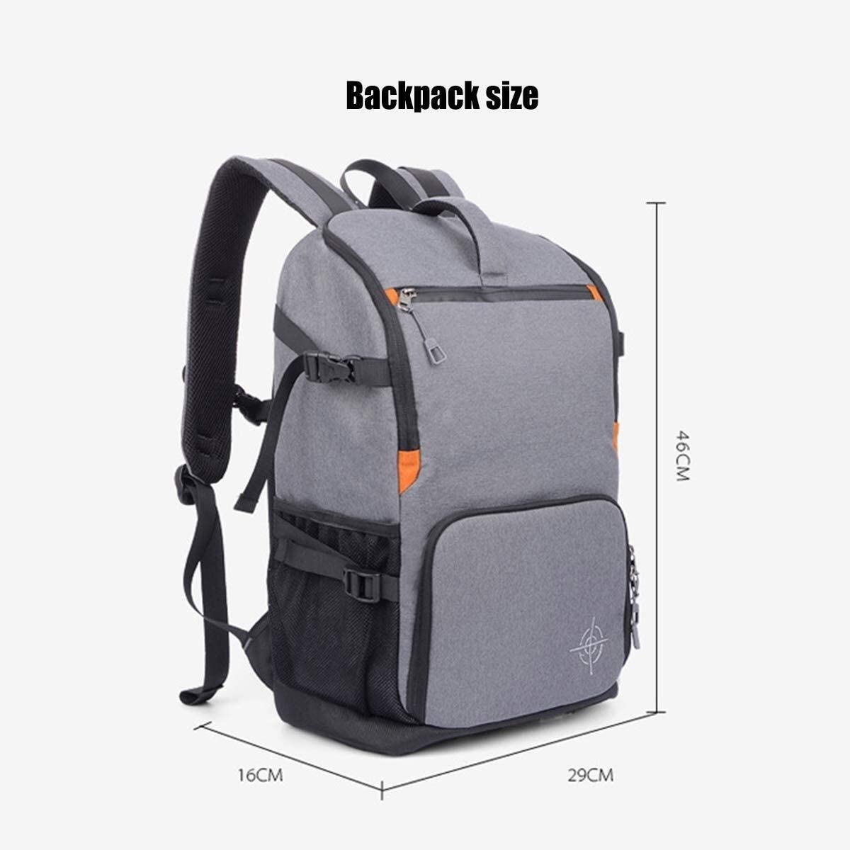 29 X 16 X 46cm Black Exquisite Qingbaotong Personality Multi-Functional Large-Capacity Camera Backpack Suitable for Scaffolding Lenses and Accessories Large-Capacity Storage Backpack