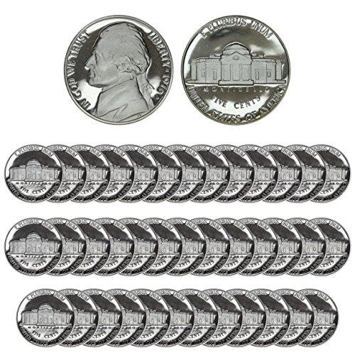 (1976 S Nickel 1976 S Nickel Proof Roll of 40 DCAM Proof)