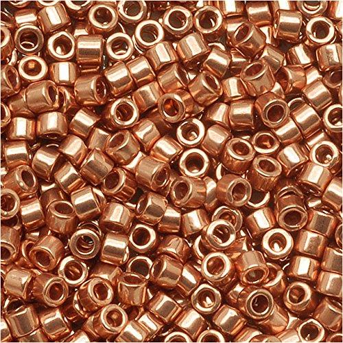 - Miyuki Delica Seed Beads 11/0 Bright Copper Plated Metallic DB040 8 GR