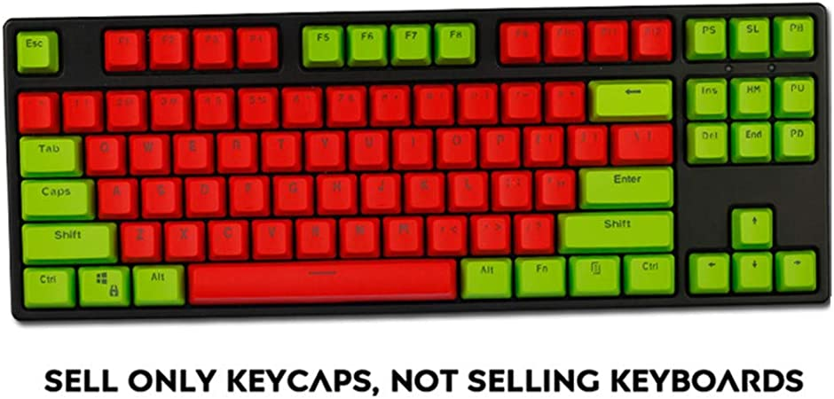 Sunzit Keycaps, 87 PBT Teclas Bicolor Keycaps Backlight ...