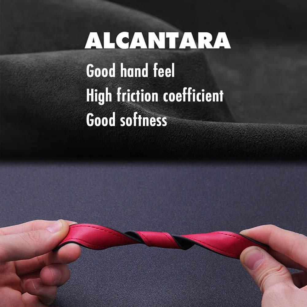 Italian Flag 3-Color KE-KE Italian Flag Alcantara Embroidery Leather Gun-Black w//Keychain Ring for Alfa Romeo Fiat Ferrari Maserati Lamborghini etc