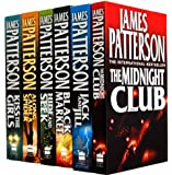 James Patterson Collection 6 Books Set Alex Cross (The Midnight Club, Along Came a Spider, Jack and Jill, Hide and Seek, Black Market, Kiss the Girls)