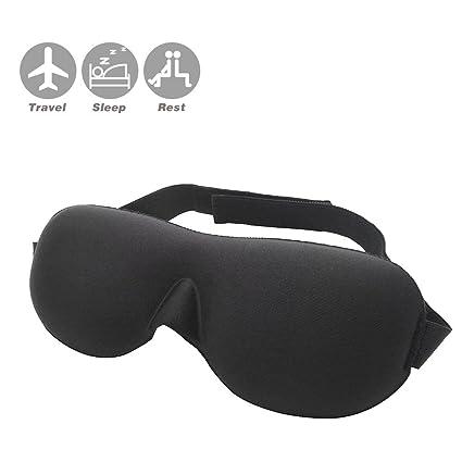 3d Dormir máscara suave acolchado de máscaras de ojo venda opaco con tapones para los oídos