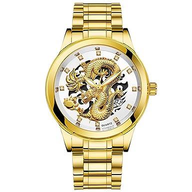 Relojes Hombre Deportivos,BBestseller Moda Impermeable Luminosa Reloj de Cuarzo,Pulseras de Lujo Acero