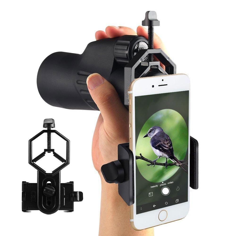 Cellphone Mount Adapter for Telescope Monocular Binoculars Spotting Scope and Microscope