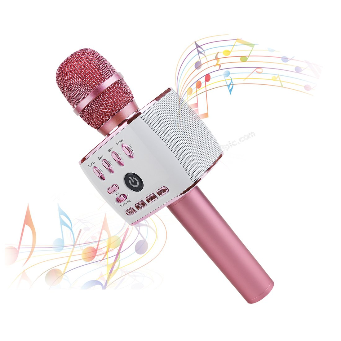 Kid Microphone, Genroud Upgraded Version Girls Toys for Kids Child Microphone,Birthday Gifts for Girls, Kids Karaoke Microphone Wireless with Bluetooth Speaker