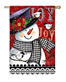 Evergreen Joyful Snowman Suede House Flag, 29 x 43 inches Review