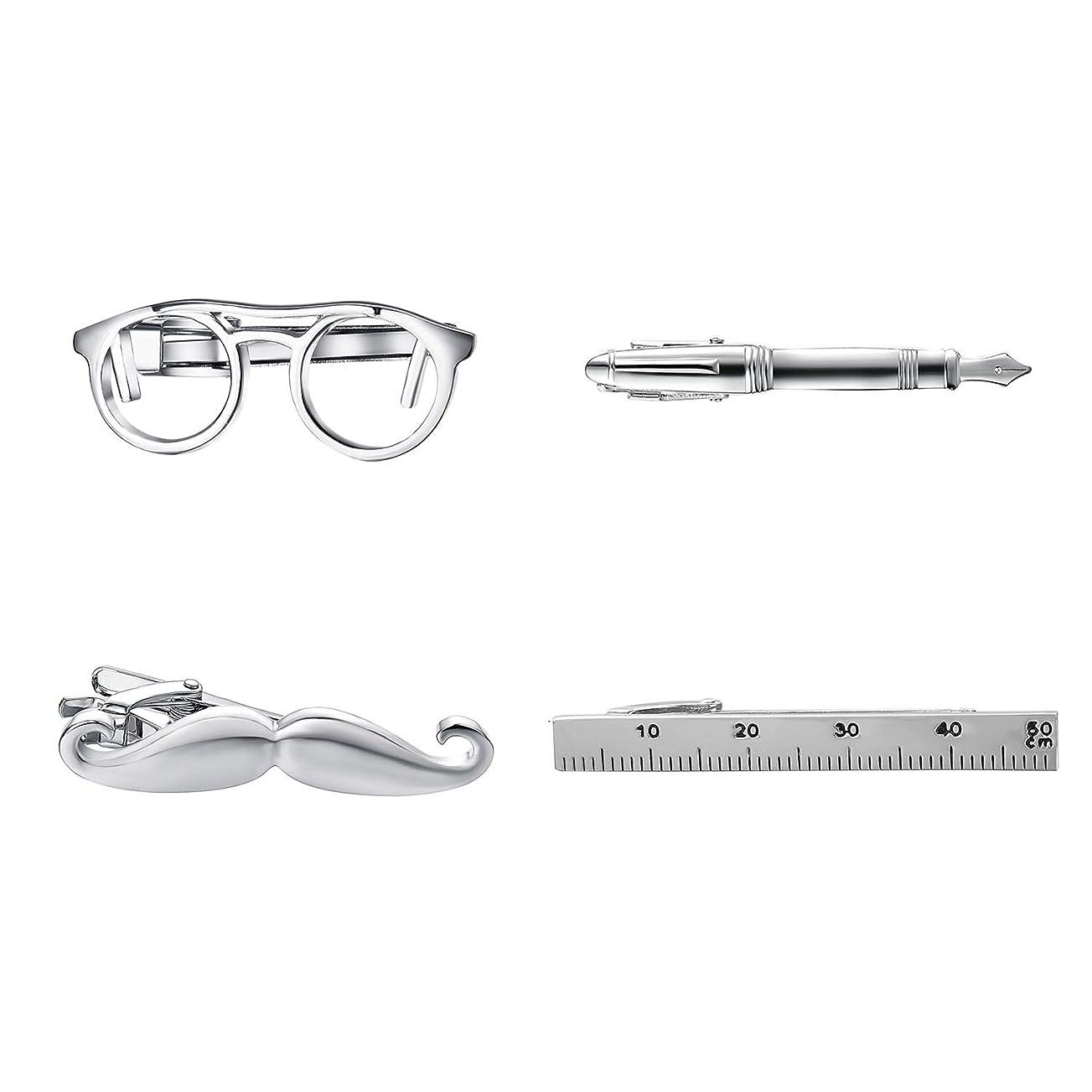 ブームヘッジ発掘するネクタイピン タイピン メガネ めがね 眼鏡 タイバー おもしろ おしゃれ メンズ 人気 ユニーク