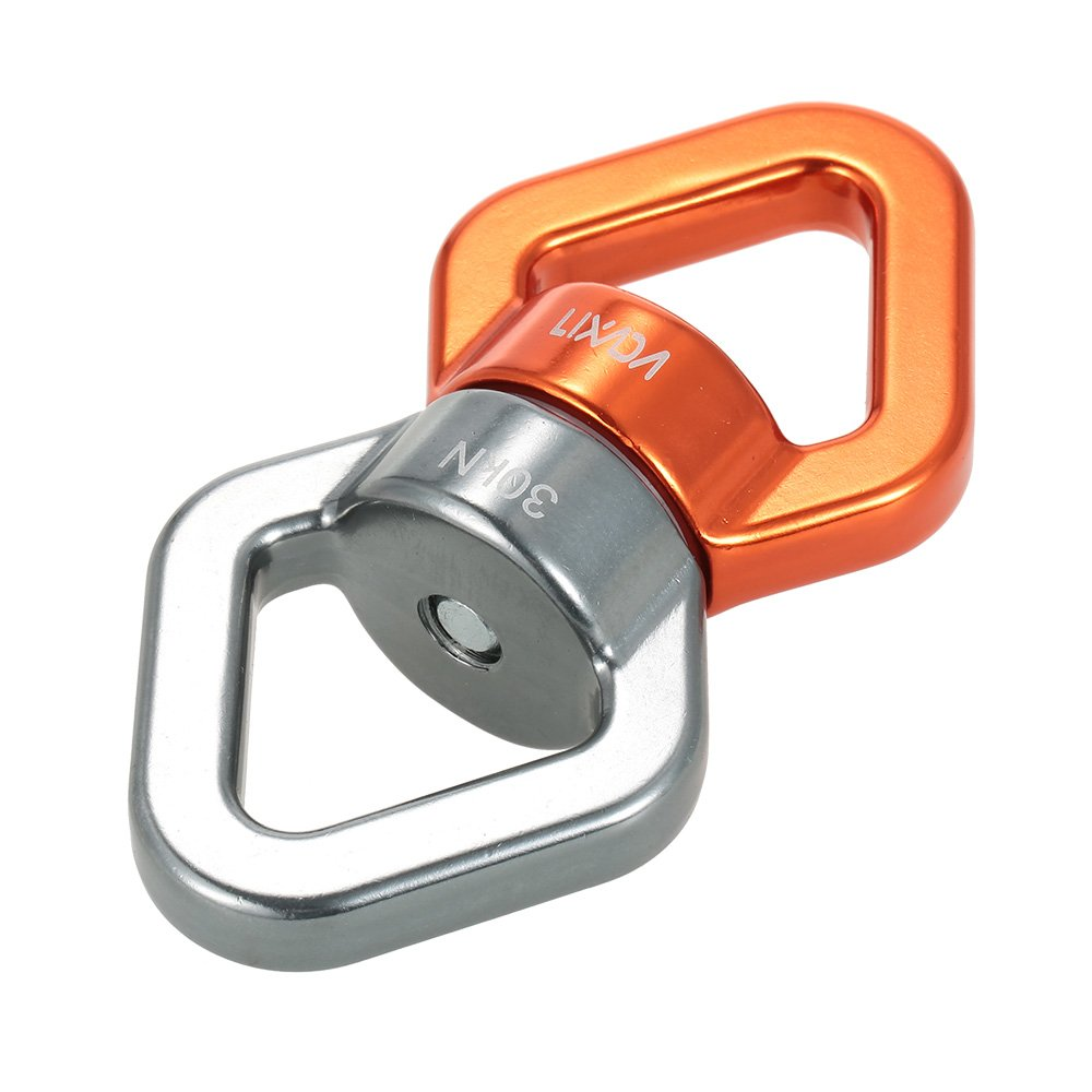 Lixada 30KN ロープスイベル コネクタ 密封軸受 クライミング ツリー ロープ ハンギング レスキュー