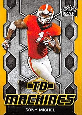 e7758211497 Image Unavailable. Image not available for. Color  Sony Michel Football  Card (Georgia Bulldogs
