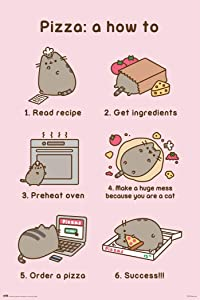POSTER STOP ONLINE Pusheen The Cat - Poster (Pizza a How to) (Size 24 x 36)