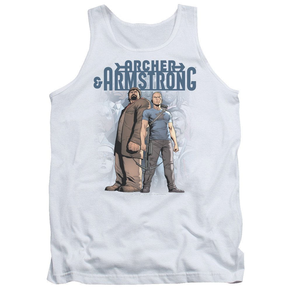 Archer /& Armstrong Two Against All Adult Tank Top
