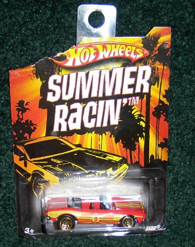 HOT WHEELS EXCLUSIVE SUMMER RACIN RED CONVERTIBLE '67 CHEVY CAMARO