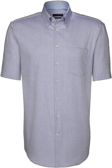 Diseño de seda camisa para hombre de corte normal UNO 1/2-brazo de planchado fácil 01, 139859: Amazon.es: Ropa y accesorios